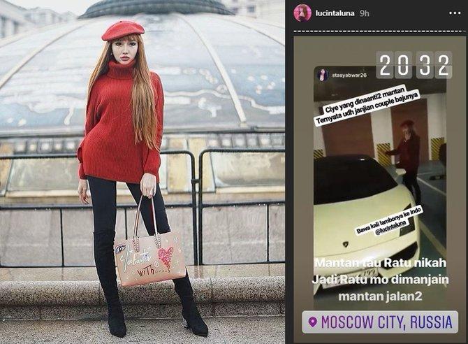 Lucinta Luna Habiskan Waktu Bersama Mantan Di Rusia